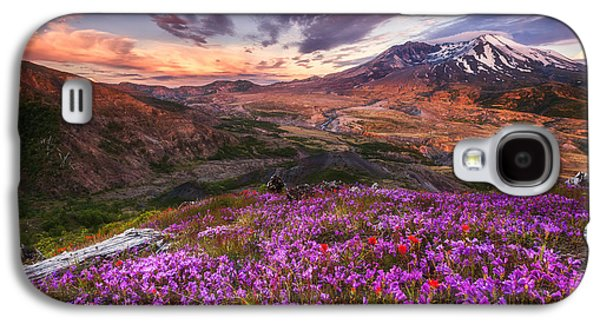 Sunset Greeting Cards Galaxy S4 Cases - Mount St Helens Lives On Galaxy S4 Case by Darren  White