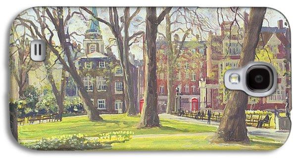 Garden Scene Galaxy S4 Cases - Mount Street Gardens, London Oil On Canvas Galaxy S4 Case by Julian Barrow