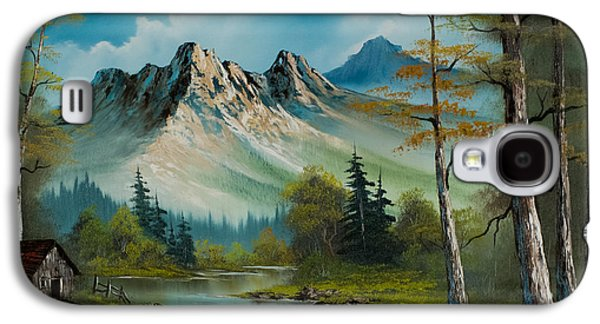 Ross Paintings Galaxy S4 Cases - Mountain Retreat Galaxy S4 Case by C Steele