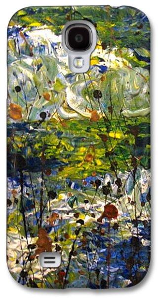 Landscape Acrylic Prints Galaxy S4 Cases - Mountain Creek Galaxy S4 Case by Jacqueline Athmann
