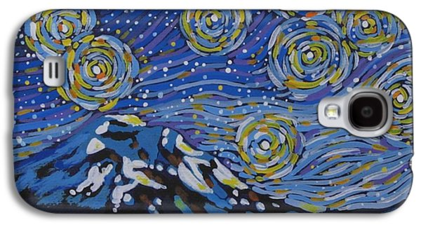 Constellations Paintings Galaxy S4 Cases - Mountain Dreams Galaxy S4 Case by Dorothy Jenson