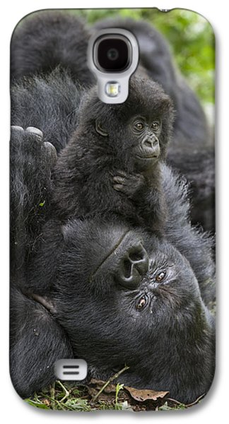 Mountain Gorilla Baby Playing Galaxy S4 Case by Suzi  Eszterhas