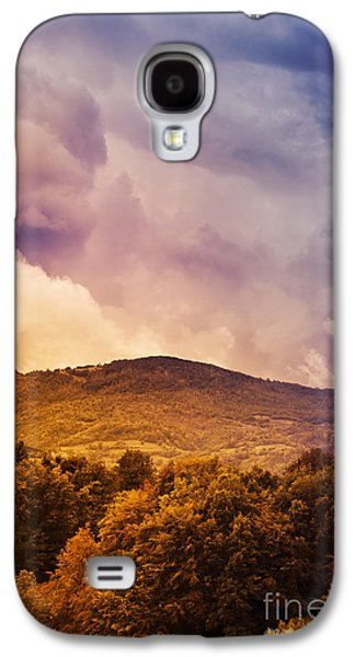 Light Pyrography Galaxy S4 Cases - Mountain Landscape Galaxy S4 Case by Jelena Jovanovic