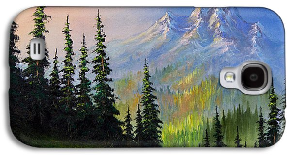 C Steele Paintings Galaxy S4 Cases - Mountain Morning Galaxy S4 Case by C Steele