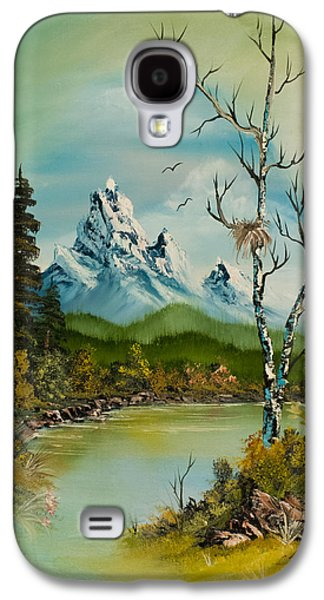 Bob Ross Paintings Galaxy S4 Cases - Lonely Peaks  Galaxy S4 Case by C Steele