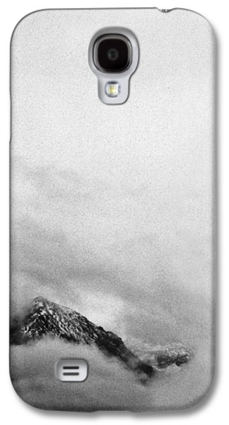 Contemplative Photographs Galaxy S4 Cases - Mountain peak in clouds Galaxy S4 Case by Peter v Quenter