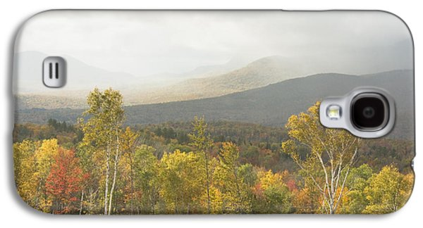 Maine Mountains Galaxy S4 Cases - Mountain Rainstorms In Fall Mount Blue State Park Weld Maine Galaxy S4 Case by Keith Webber Jr