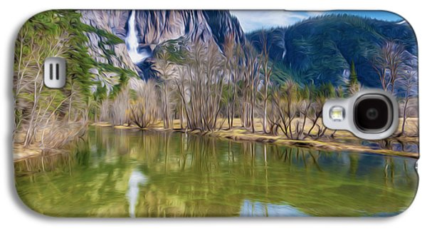 El Capitan Paintings Galaxy S4 Cases - Mountain Reflection in Lake Galaxy S4 Case by Lanjee Chee