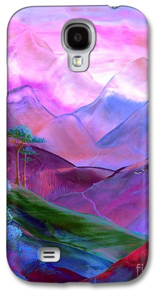 Sunset Abstract Galaxy S4 Cases - Mountain Reverence Galaxy S4 Case by Jane Small