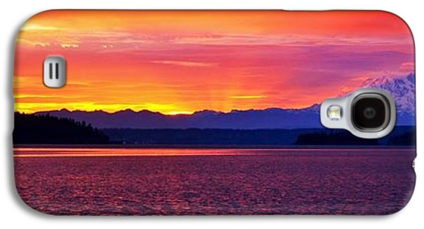 Waterscape Galaxy S4 Cases - Mountain Shadow Panorama Galaxy S4 Case by Benjamin Yeager