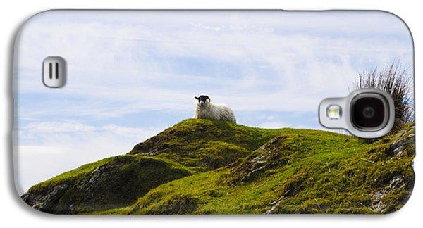 Sheep Digital Art Galaxy S4 Cases - Mountain Sheep Galaxy S4 Case by Bill Cannon