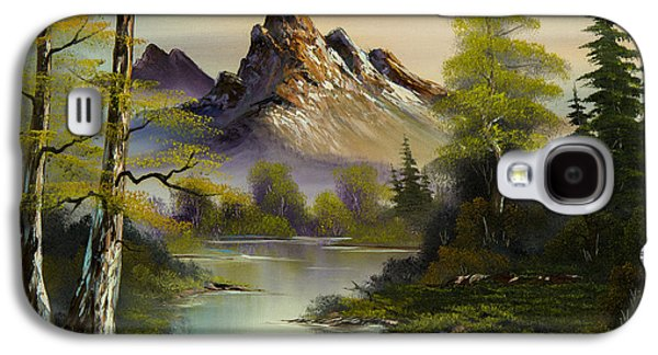 Sawtooth Mountain Paintings Galaxy S4 Cases - Mountain Evening Galaxy S4 Case by C Steele