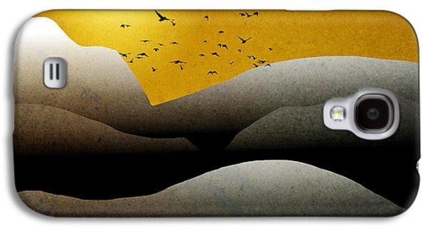 Rollo Digital Art Galaxy S4 Cases - Mountain Sunrise Landscape Art Galaxy S4 Case by Christina Rollo