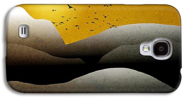 Rollosphotos Digital Art Galaxy S4 Cases - Mountain Sunrise Landscape Art Galaxy S4 Case by Christina Rollo