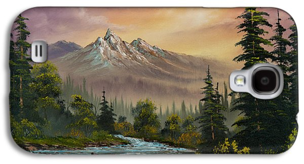 Wilderness Paintings Galaxy S4 Cases - Mountain Sunset Galaxy S4 Case by C Steele