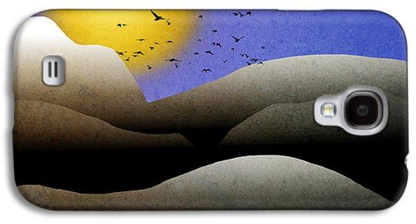 Rollosphotos Digital Art Galaxy S4 Cases - Mountain Sunset Landscape Art Galaxy S4 Case by Christina Rollo