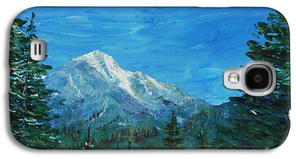 Design Paintings Galaxy S4 Cases - Mountain View Galaxy S4 Case by Anastasiya Malakhova