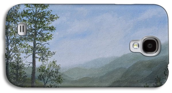 Smokey Mountains Paintings Galaxy S4 Cases - Mountain Vista 1 by K. McDermott Galaxy S4 Case by Kathleen McDermott