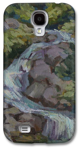 Waterfalls Paintings Galaxy S4 Cases - Mountain Waterfall Galaxy S4 Case by Diane McClary