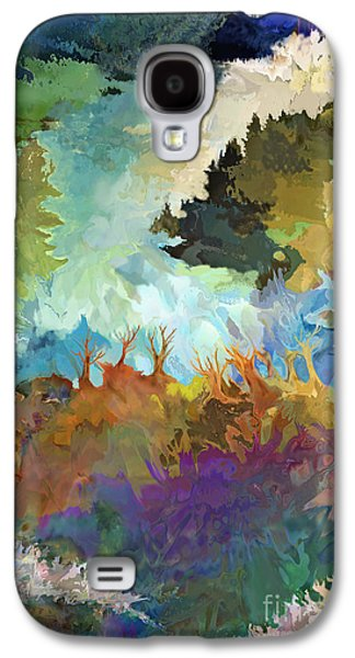 Nature Abstracts Galaxy S4 Cases - Mountain Waterfall Galaxy S4 Case by Ursula Freer