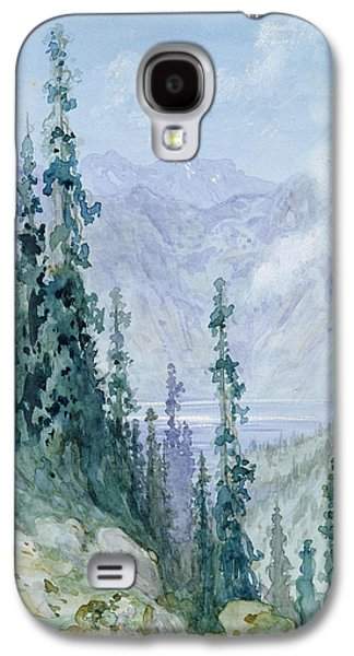 Mountainous Paintings Galaxy S4 Cases - Mountainous landscape Galaxy S4 Case by Gustave Dore