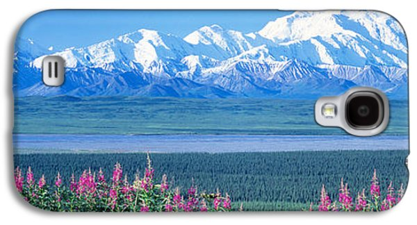 Snow Capped Galaxy S4 Cases - Mountains & Lake Denali National Park Galaxy S4 Case by Panoramic Images