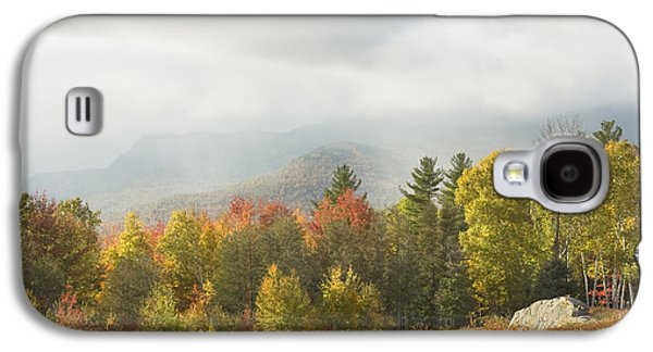 Maine Mountains Galaxy S4 Cases - Mountains and Rain Storm In Fall Mount Blue State Park Weld Maine Galaxy S4 Case by Keith Webber Jr