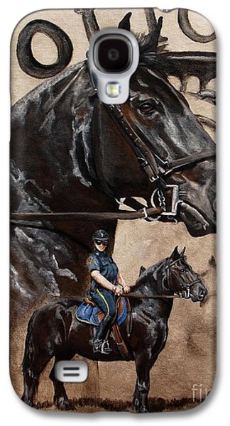Police Paintings Galaxy S4 Cases - Mounted Patrol Galaxy S4 Case by Pat DeLong
