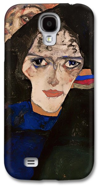 All In The Family Galaxy S4 Cases - Mourning Woman Galaxy S4 Case by Egon Schiele