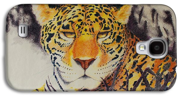 Cheetah Drawings Galaxy S4 Cases - Movement Galaxy S4 Case by Greg Chapman
