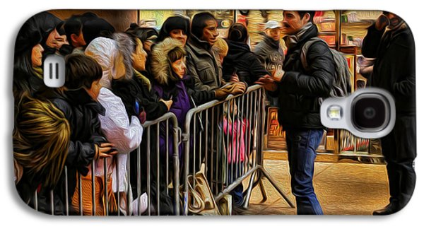 Autographed Art Galaxy S4 Cases - Movie Stars - The Artist Signing Autographs Galaxy S4 Case by Lee Dos Santos
