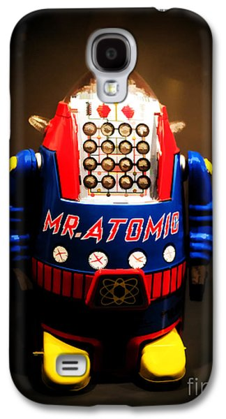 Atomic Galaxy S4 Cases - Mr. Atomic Tin Robot Galaxy S4 Case by Edward Fielding