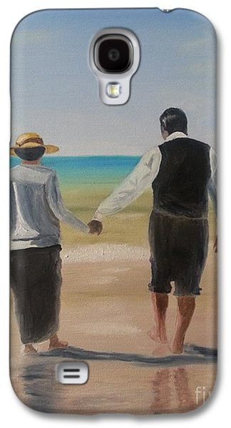 Mr. Carson And Mrs. Hughes Galaxy S4 Case by Bev Conover