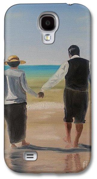 Seacape Galaxy S4 Cases - Mr. Carson and Mrs. Hughes Galaxy S4 Case by Bev Conover