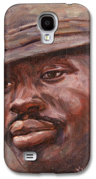 African-american Galaxy S4 Cases - Mr Cool Hat Galaxy S4 Case by Xueling Zou