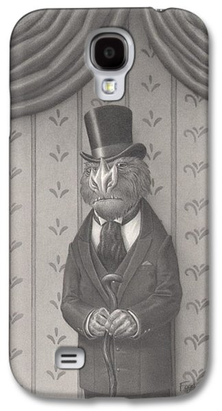 Creepy Drawings Galaxy S4 Cases - Mr. Grivens Galaxy S4 Case by Richard Moore