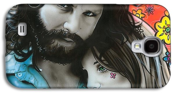 Power Paintings Galaxy S4 Cases - Mr Mojo Risin and Pam Galaxy S4 Case by Christian Chapman Art