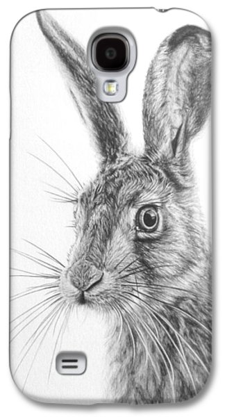 March Hare Galaxy S4 Cases - Mr Whisker Galaxy S4 Case by Frances Vincent