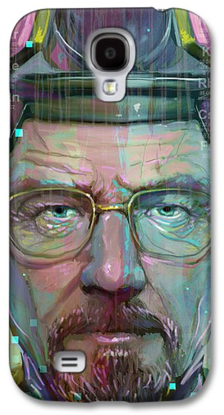Digital Galaxy S4 Cases - Mr. White Galaxy S4 Case by Jeremy Scott