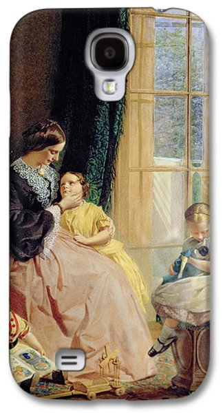 Private Galaxy S4 Cases - Mrs Hicks Mary Rosa and Elgar Galaxy S4 Case by George Elgar Hicks