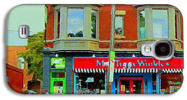 Toy Store Paintings Galaxy S4 Cases - Mrs Tiggy Winkles Toy Shop And Lost Marbles Richmond Rd The Glebe Paintings Ottawa Scenes C Spandau Galaxy S4 Case by Carole Spandau