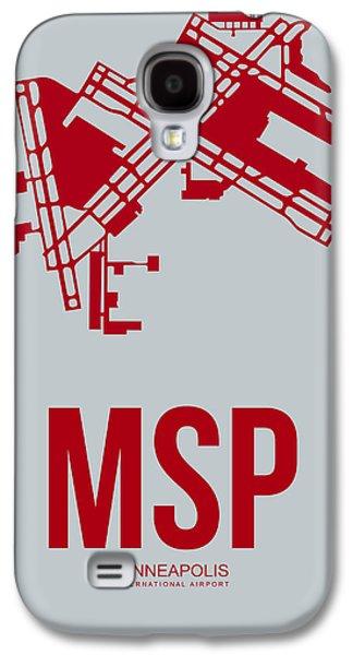 Minnesota Galaxy S4 Cases - MSP Minneapolis Airport Poster 3 Galaxy S4 Case by Naxart Studio