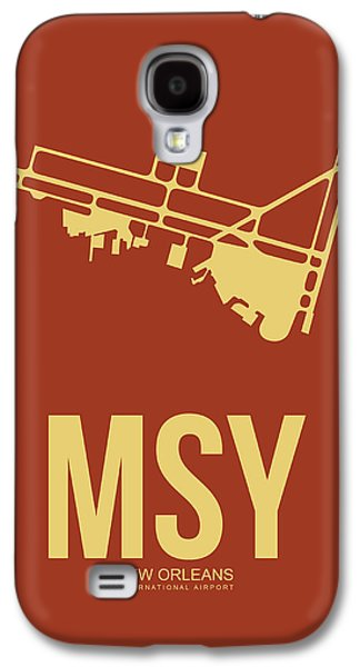 News Mixed Media Galaxy S4 Cases - MSY New Orleans Airport Poster 1 Galaxy S4 Case by Naxart Studio