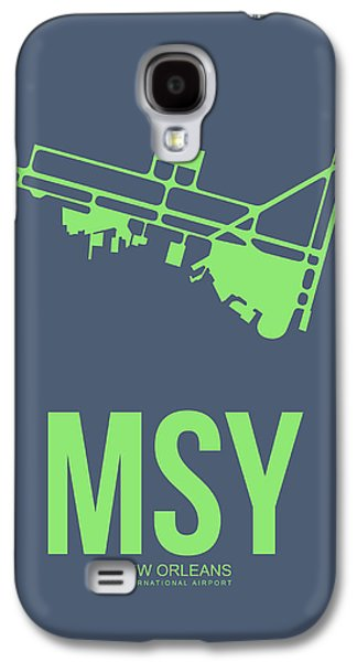 News Mixed Media Galaxy S4 Cases - MSY New Orleans Airport Poster 2 Galaxy S4 Case by Naxart Studio