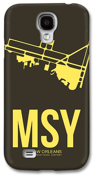 News Mixed Media Galaxy S4 Cases - MSY New Orleans Airport Poster 3 Galaxy S4 Case by Naxart Studio