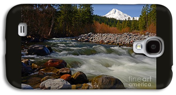 Sun Galaxy S4 Cases - Mt. Hood Landscape Galaxy S4 Case by Nick  Boren