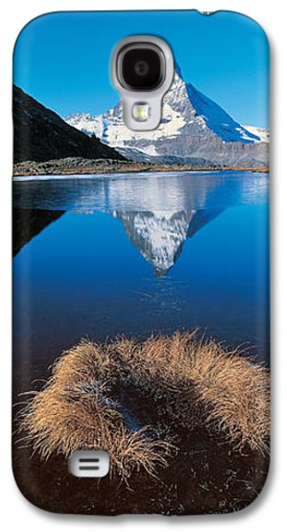 Reflections Of Sky In Water Galaxy S4 Cases - Mt Matterhorn & Riffel Lake Switzerland Galaxy S4 Case by Panoramic Images