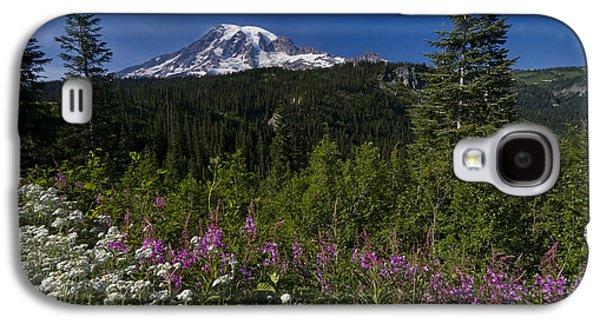 Landscapes Photographs Galaxy S4 Cases - Mt. Rainier Galaxy S4 Case by Adam Romanowicz