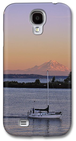 Seaside Galaxy S4 Cases - Mt. Rainier Afterglow Galaxy S4 Case by Adam Romanowicz