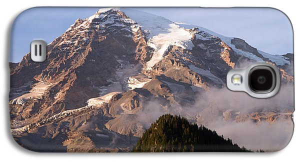 Scott Nelson Paintings Galaxy S4 Cases - Mt Rainier Sunset Galaxy S4 Case by Scott Nelson